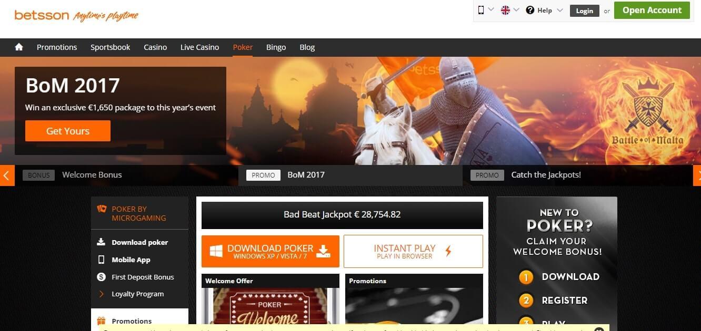 Betsson официальный сайт