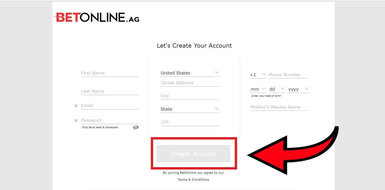 Betonline регистрация