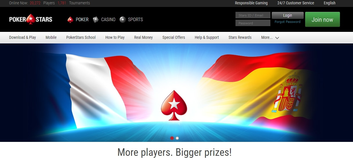 pokerstars.es регистрация
