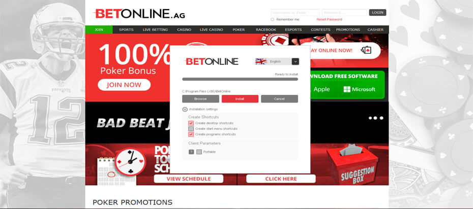 Betonline download