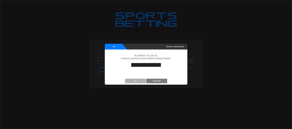Sports Betting login