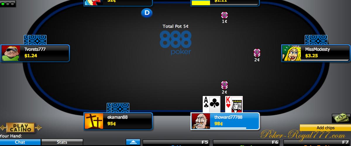 Покер 888 играть онлайн