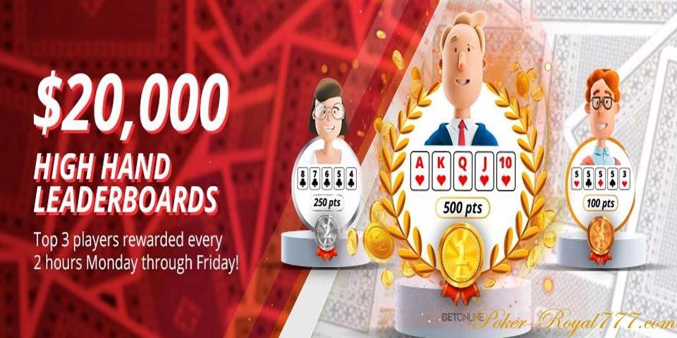 Betonline Poker High Hand Leaderboards