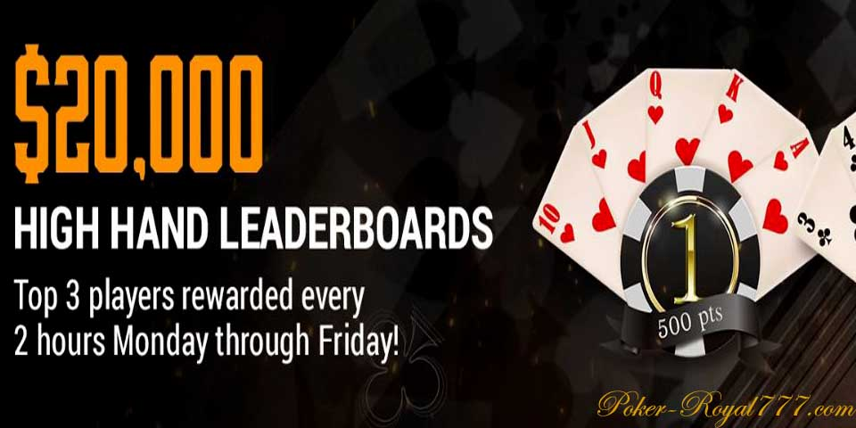 Tigergaming Poker High Hand Leaderboards