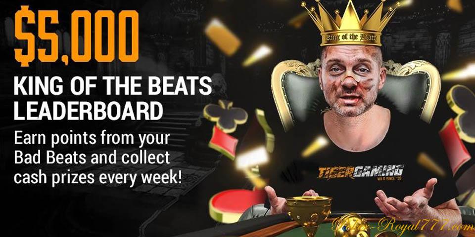 Tigergaming Poker King of the Beats Leaderboard