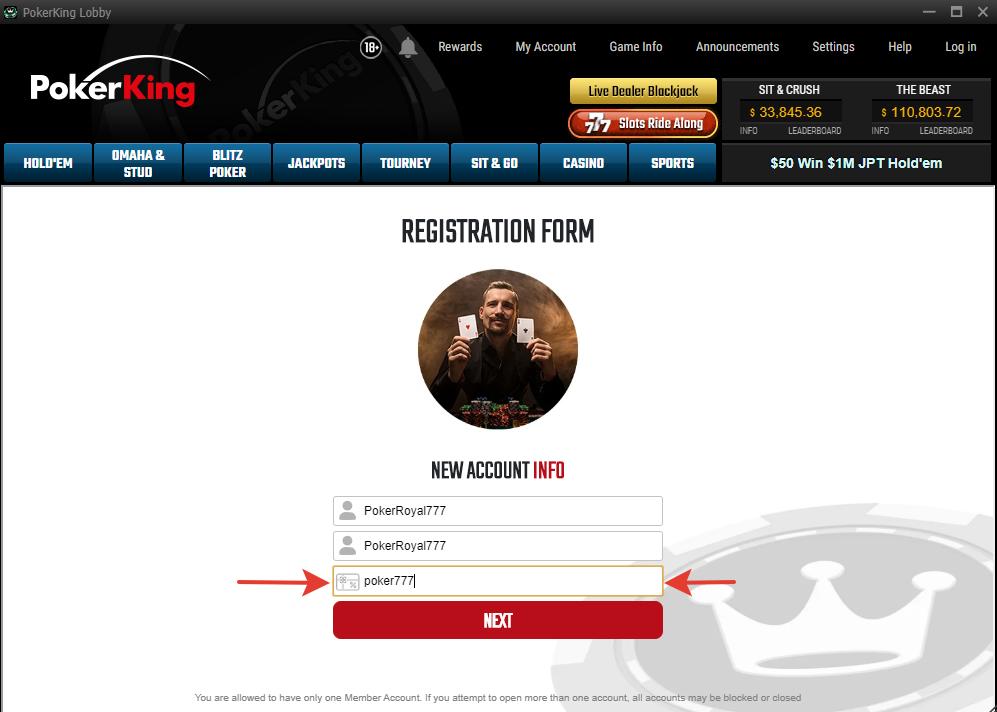 PokerKing promocode step4