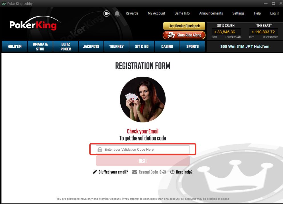 PokerKing promocode step5